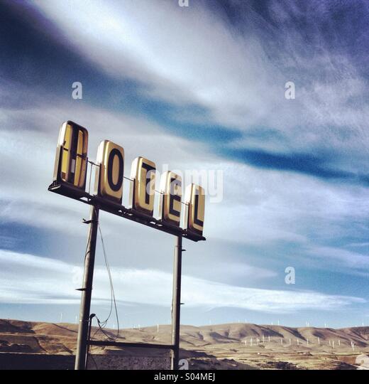 Vintage motel sign in Oregon - Stock-Bilder