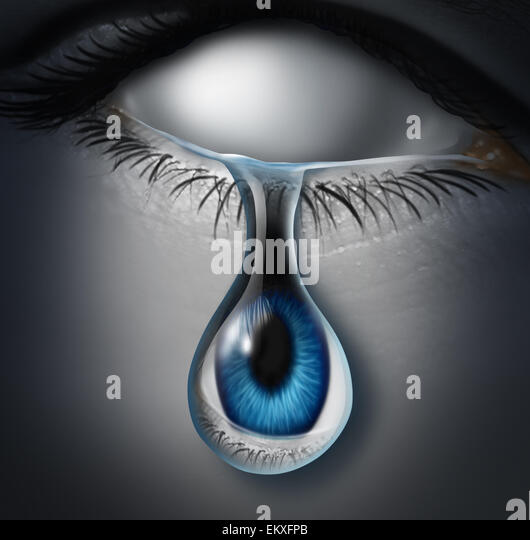Lost person concept or anonymous victim and emotionaly drained symbol as a blank empty human crying a tear with - Stock-Bilder