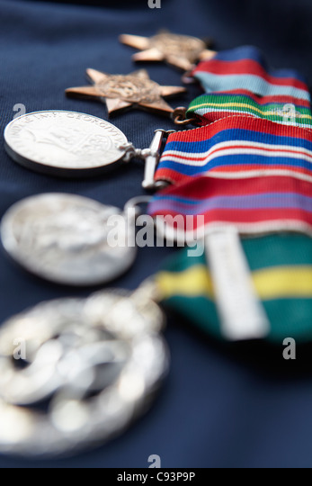 Strip of medals - Stock Image