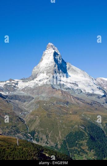 The gigantic Matterhorn - Stock Image