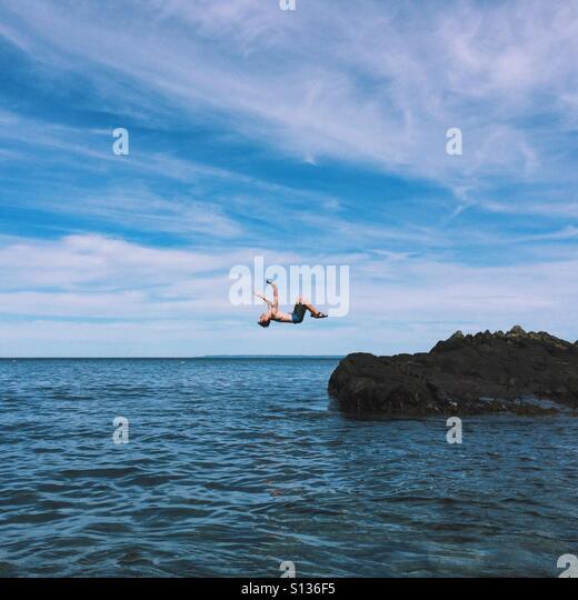Ocean Backflip - Stock Image