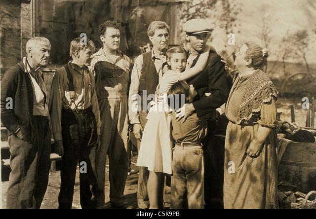 Cinema man men woman women 1930's Great Depression - Stock Image