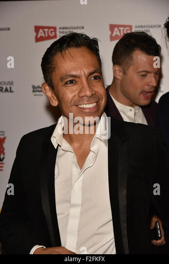 London,UK, 17th Sept 2015 : David Bedella attends the Rocky Horror Show Gala Night After Party at the Playhouse - Stock Image