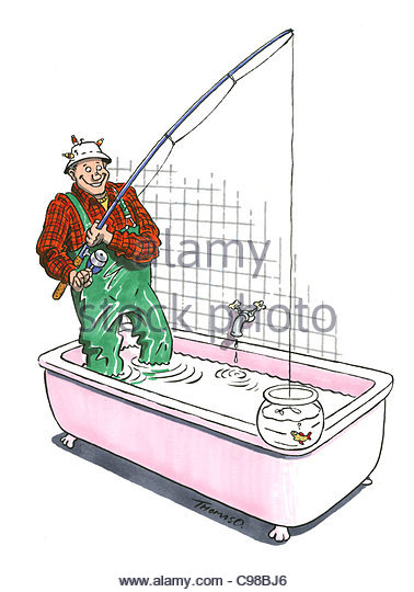 Well angler stock photos well angler stock images alamy for A fish in the bathtub