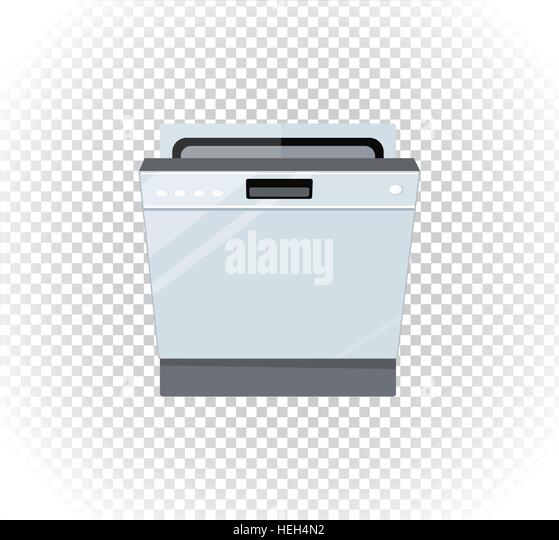 Sale of household appliances dishwasher machine. Electronic device dishwasher machine. Sale badge label logo. Home - Stock-Bilder