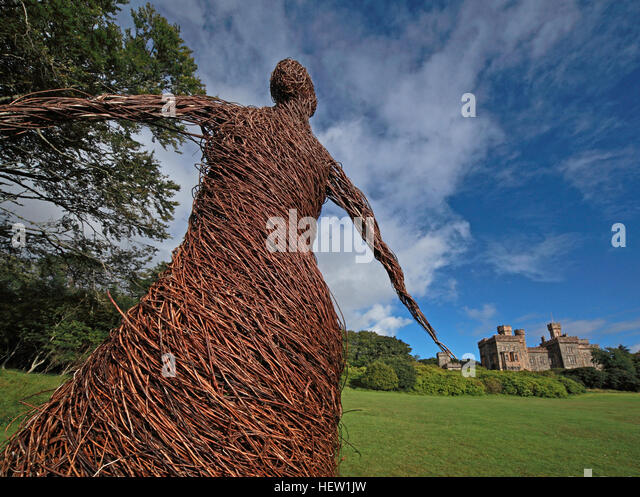 The wicker woman of Stornoway Isle Of Lewis,Scotland,UK - Stock Image