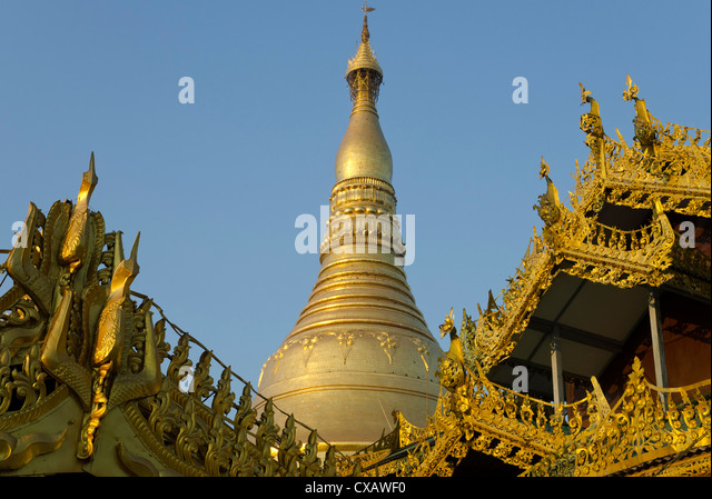Stupa at Shwedagon, Yangon, Myanmar (Burma), Asia - Stock-Bilder