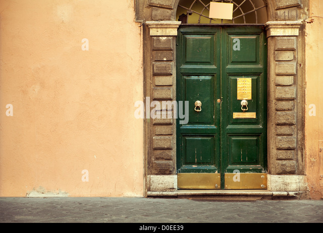 Picture presenting an old gate - Stock Image