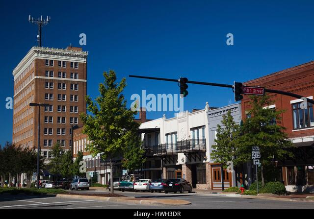 United States, Alabama, Tuscaloosa, Greensboro Avenue, also known as 24th Avenue - Stock Image