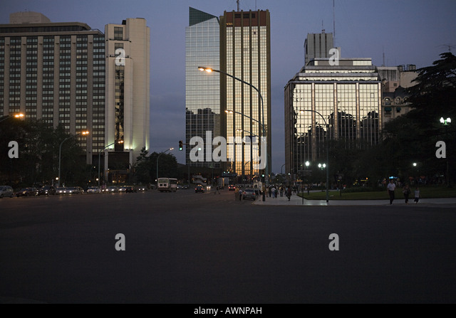 Finance district in buenos aires - Stock Image