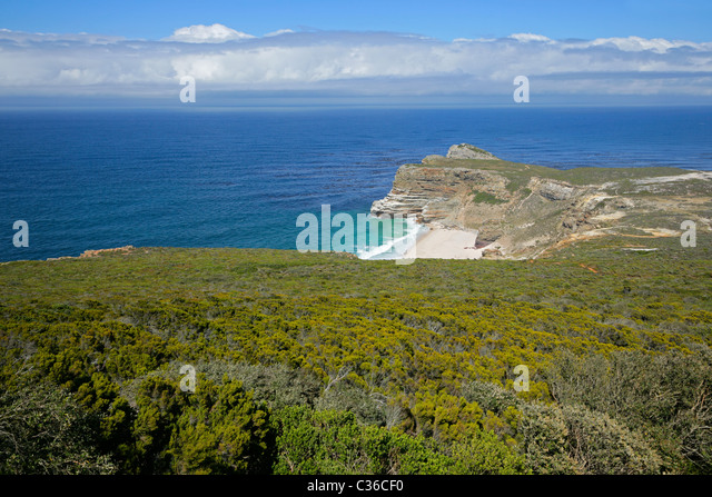 Cape of Good Hope (view from Cape Point), Table Mountain National Park, near Cape Town, South Africa - Stock Image
