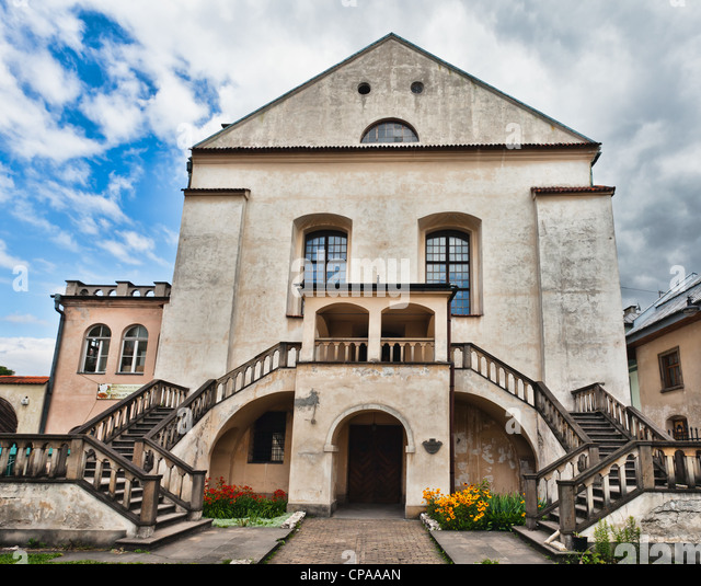 Old Synagogue Izaaka in Kazimierz district of Krakow, Poland - Stock Image