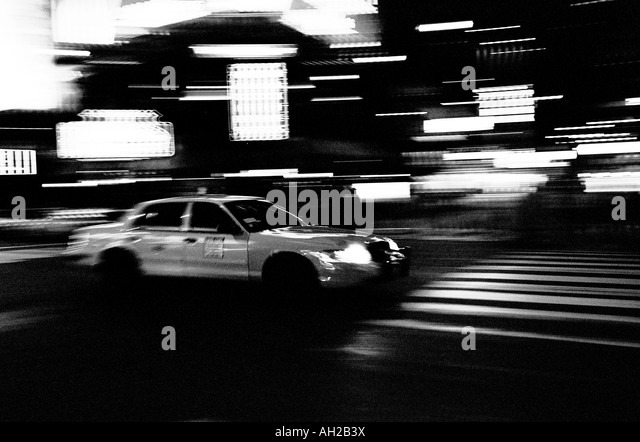 new york taxi black and white stock photos new york taxi. Black Bedroom Furniture Sets. Home Design Ideas