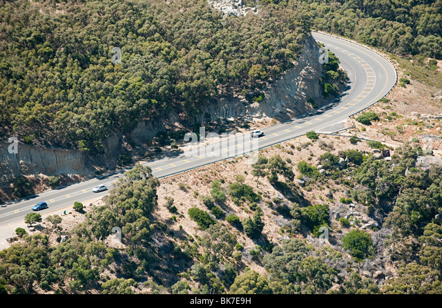 Cape town road - Stock Image