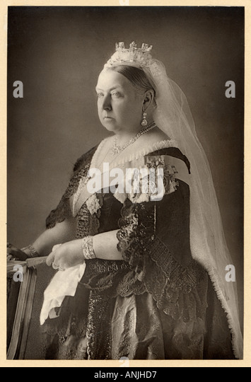 Victoria Photograph 1890 - Stock Image