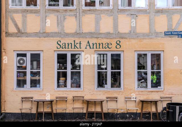 old townhouse in historical Copenhagen, Denmark, Scandinavia - Stock-Bilder