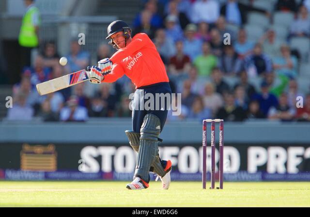 Manchester, UK. 23rd June, 2015. NatWest International T20 Cricket. England versus New Zealand. England player Alex - Stock-Bilder