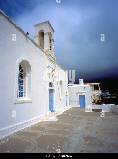church and Monastery of Chrisoskalitissa  West Crete Greece Europe.  Photo by Willy Matheisl - Stock Image