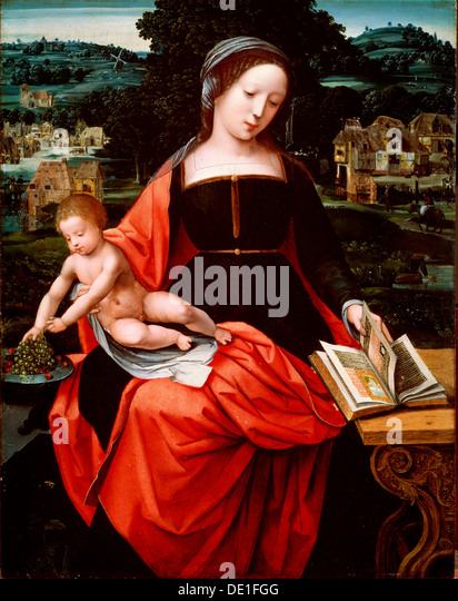 'Virgin and Child', 1530s-1540s. Artist: Unknown Old Master - Stock Image