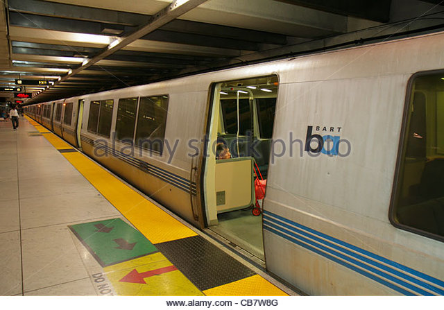 San Francisco California Market Street BART Montgomery Station rapid transit public transportation subway system - Stock Image