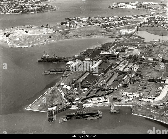 Mortlake-Gas Works - Parramatta River - 1937 30079569931 o - Stock Image