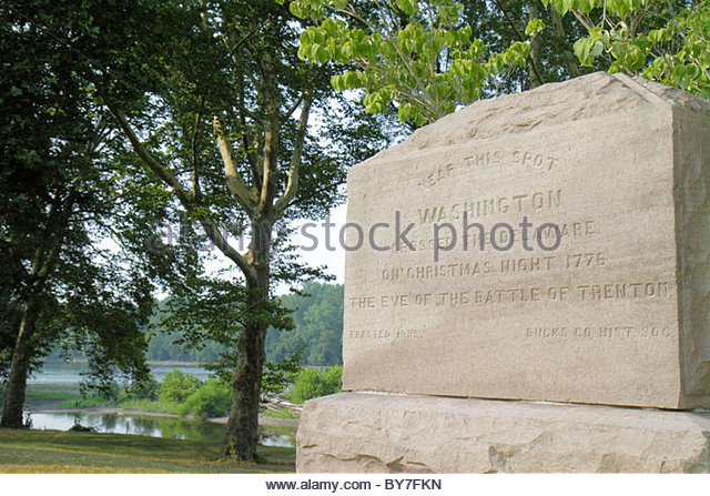Pennsylvania Taylorsville Bucks County Delaware River Washington Crossing State Park American Revolution history - Stock Image