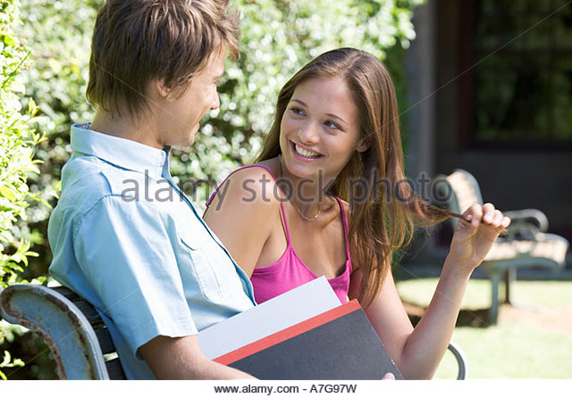 Two university students - Stock Image