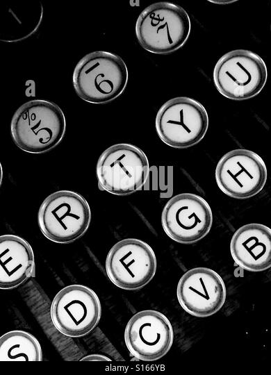 Vintage typewriter letter keys - Stock-Bilder