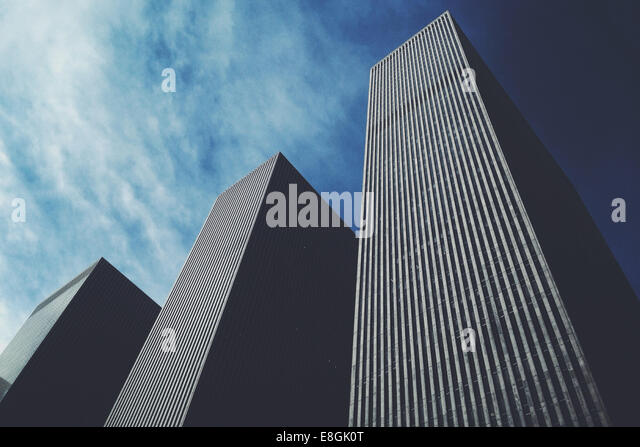 USA, New York City, Manhattan, Skyscrapers - Stock Image