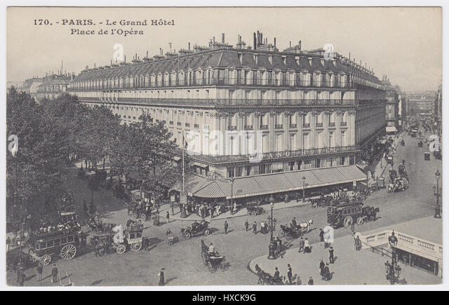 Grand Hotel & Café de la Paix, Paris, France - Stock Image