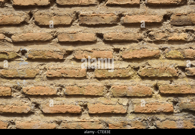 Close-up of the ancient brick wall - Stock-Bilder