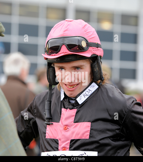 ALAIN O'KEEFE JOCKEY WETHERBY RACECOURSE WETHERBY ENGLAND 29 October 2011 - Stock Image