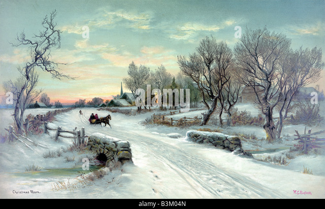 Christmas morning at the countryside - Stock Image