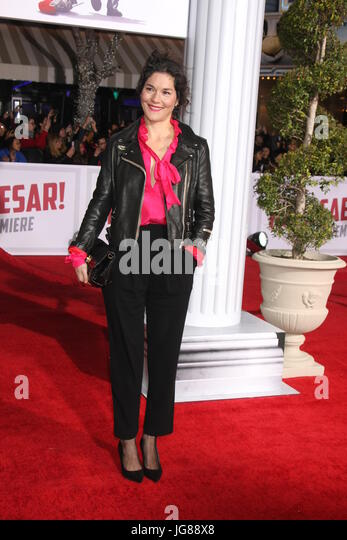 Westwood, CA, USA. 1st Feb, 2016. LOS ANGELES - FEB 1: Heather Goldenhersh at the Hail, Caesar World Premiere at - Stock Image
