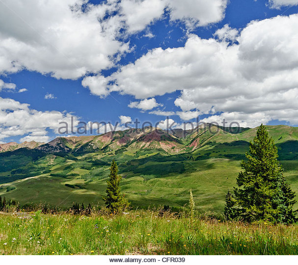 Cloud Reflections on Mountains, Gothic Natural Area, Gothic, CO., Aug 10, 2010 - Stock Image