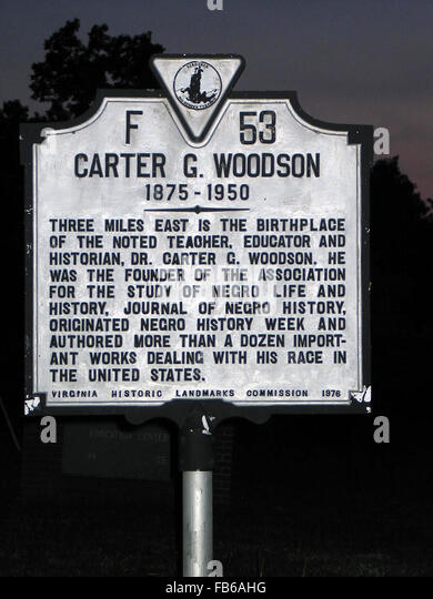 The early life story of dr carter g woodson and his life achievements