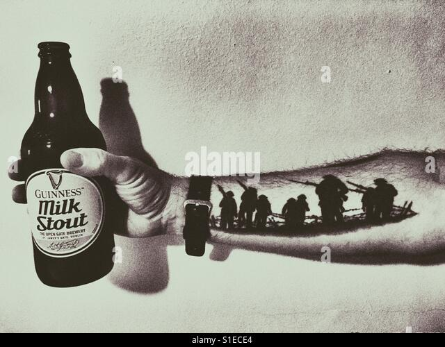 A toast to the veterans of The Battle of the Somme - Stock Image