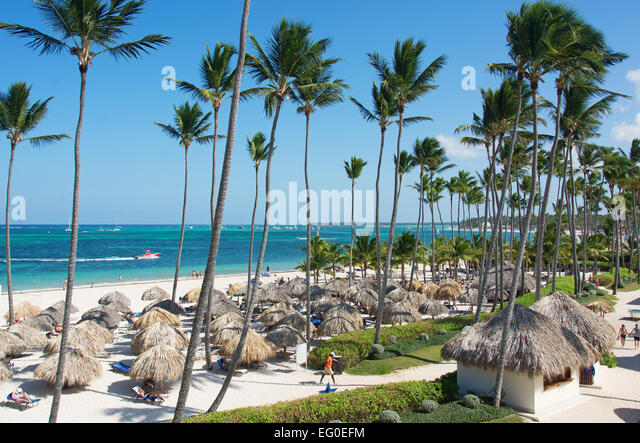 DOMINICAN REPUBLIC. Punta Cana beach at the Secrets Royal Beach resort on the east coast. 2015. - Stock Image