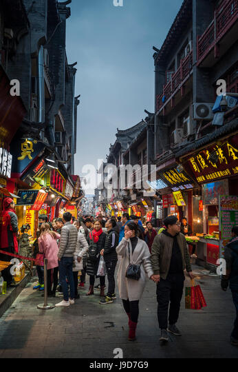 Street food in Jinan, Shandong province, China, Asia - Stock-Bilder