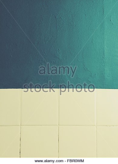 Detail Shot Of Tiled And Painted Wall - Stock-Bilder