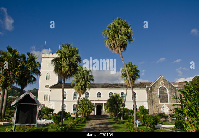 St Vincent Kingstown St Georges Anglican Church landmark attraction - Stock Image