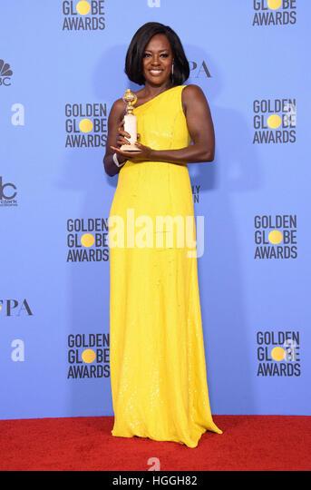 Beverly Hills, CA, USA. 8th Jan, 2017. Viola Davis. 74th Annual Golden Globes Awards held at the Beverly Hilton - Stock-Bilder