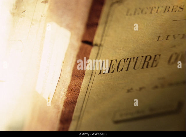 Book cover, extreme close-up - Stock Image