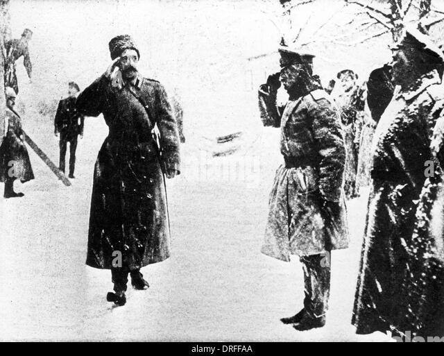Grand Duke George Mikhailovich and General Brusilov - Stock Image
