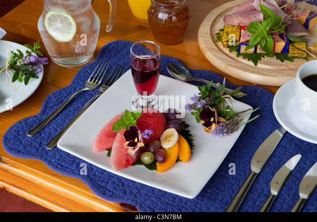 South Africa, Western Cape, Calitzdorp, Red Mountain Nature Reserve. Breakfast. - Stock-Bilder