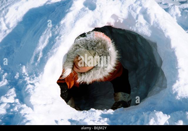 Inuit Igloo Canada Stock Photos & Inuit Igloo Canada Stock ...