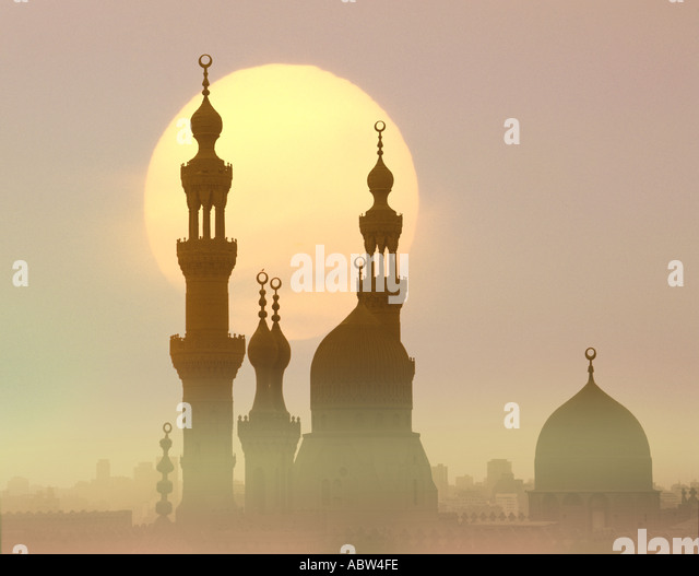 EG - CAIRO: Sultan Hassan Mosque at sunset - Stock Image