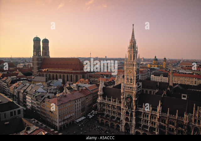 Rathaus, Marienplatz, Munich, Germany - Stock Image