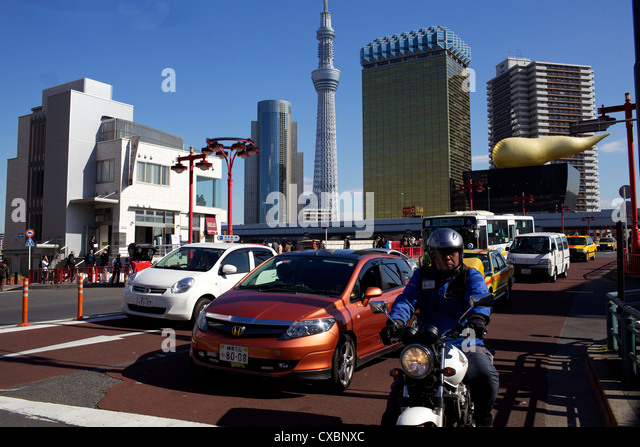 View of the new Tokyo Tower, Tokyo, Japan, Asia - Stock Image