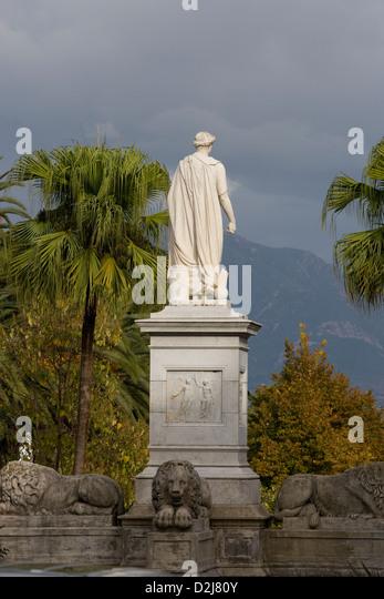 Corsica: Ajaccio - statue of Napoléon - Stock Image